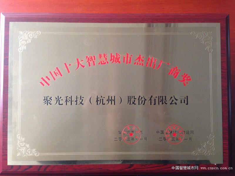 中国十大智慧城市杰出厂商奖