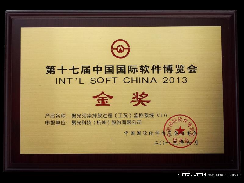 第十七届中国国际软件博览会金奖